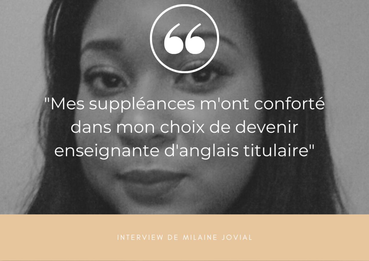 Zoom sur l'expérience de Milaine JOVIAL